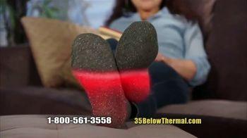 35 Degrees Below Socks TV Spot, 'Secret to Keeping Feet Warm: Bonus Third Pair' - Thumbnail 7