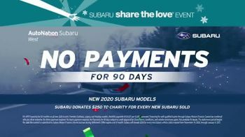 AutoNation Subaru Share the Love Event TV Spot, 'The New Year Starts Now: No Payments for 90 Days' - Thumbnail 5