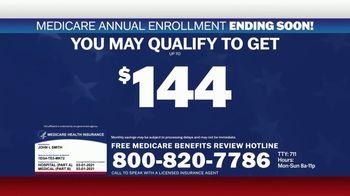 Medicare Benefits Hotline TV Spot, 'Expanded Benefits Final Days: $144 Added Back' - Thumbnail 4