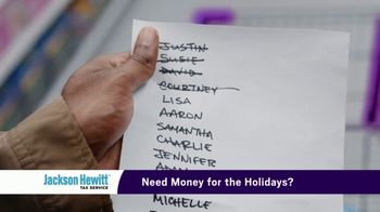Jackson Hewitt TV Spot, 'Need Money for the Holidays?: Early Refund Advance Loan' - 3386 commercial airings
