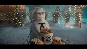 KFC $20 Fill Up TV Spot, 'Holidays: Colonel Snowman' - Thumbnail 1