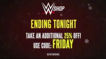 WWE Shop Black Friday Sale TV Spot, 'Are You Ready?: Take an Additional 25% Off' - Thumbnail 6