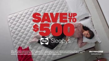 Mattress Firm Cyber Week Sale TV Spot, 'King For a Queen, Free Adjustable Base & 50% Off Selections'