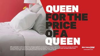 Mattress Firm Cyber Week Sale TV Spot, 'King for a Queen, Free Adjustable Base & 50% Off Selections' - Thumbnail 3