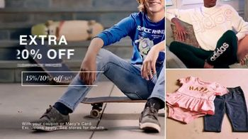 Macy's TV Spot, 'Extra 20% Off: Jeans, Children's Clothing, Activewear'