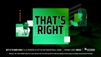 DraftKings Sportsbook TV Spot, 'Slam Dunk Offers: Bet $1, Win $100' - Thumbnail 5