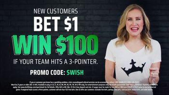 DraftKings at Casino Queen Sportsbook TV Spot, 'Slam Dunk Offers: Bet $1, Win $100' - Thumbnail 7