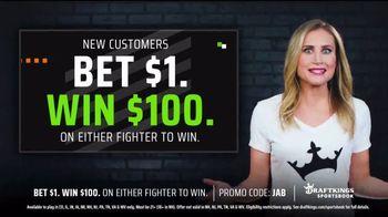 DraftKings Sportsbook TV Spot, 'Winning Fighter: Bet $1, Win $100' - Thumbnail 5