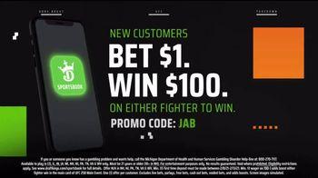 DraftKings Sportsbook TV Spot, 'Winning Fighter: Bet $1, Win $100' - Thumbnail 8