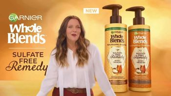 Garnier Whole Blends Sulfate Free Remedy TV Spot, 'The New Buzz' Featuring Drew Barrymore, Song by Lizzo - Thumbnail 2