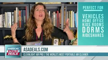 America's Steals & Deals TV Spot, 'CleanLight Air Purifiers: 22 to 30% Off' Featuring Genevieve Gorder - Thumbnail 4