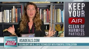 America's Steals & Deals TV Spot, 'CleanLight Air Purifiers: 22 to 30% Off' Featuring Genevieve Gorder