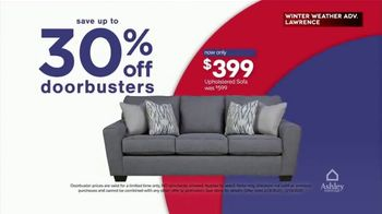 Ashley HomeStore Presidents Day Weekend Sale TV Spot, 'Save Up to 30% Off on Doorbusters: Sofa' - Thumbnail 4