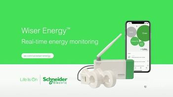Schneider Electric Wiser Energy Smart Home Monitor TV Spot, 'Real Time Information'