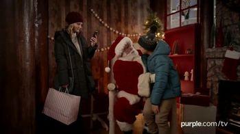 Purple Mattress Holiday Sale TV Spot, 'Santa Claus: Free Sheets and Pillow' - Thumbnail 1