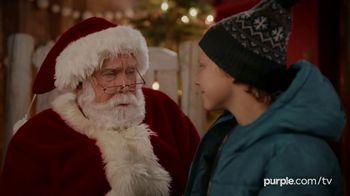 Purple Mattress Holiday Sale TV Spot, 'Santa Claus: Free Sheets and Pillow' - Thumbnail 3