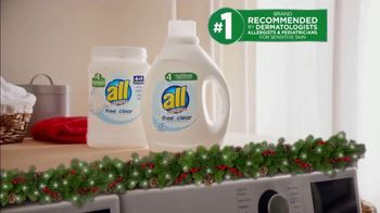 All Laundry Detergent TV Spot, 'Ion Television: Ugly Christmas Sweater' - Thumbnail 5