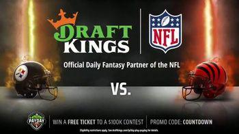 DraftKings Big Play Payday TV Spot, 'Week 15: Steelers vs. Bengals' - Thumbnail 4