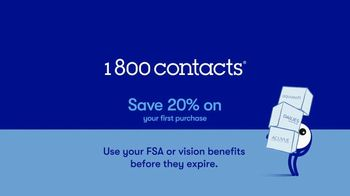 1-800 Contacts TV Spot, 'FSA and 20% Off' - Thumbnail 9