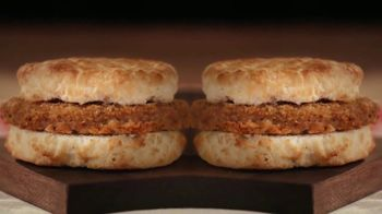 Bojangles Steak Biscuit TV Spot, 'Holidays: You're Not Seeing Double: 2 for $4'