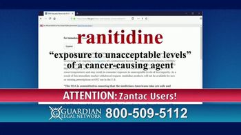 Guardian Legal Network TV Spot, \'FDA Requests: Ranitidine\'