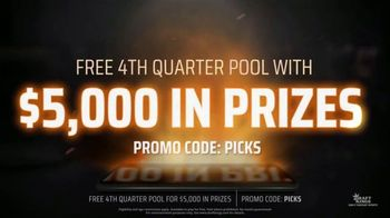 DraftKings Daily Fantasy Sports TV Spot, 'Gridiron Action: Fourth Quarter Pool'