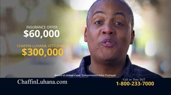 Chaffin Luhana TV Spot, 'Offered $60,000 for Car Accident' - Thumbnail 3