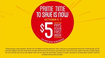 Rent-A-Center TV Spot, 'Prime Time to Save: $5' - Thumbnail 5