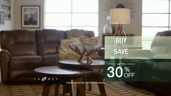 La-Z-Boy Buy More, Save More Event TV Spot, 'Up to 30% Off' - Thumbnail 8