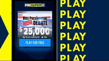 FOX Sports Super 6 Vice Presidential Debate Game TV Spot, 'Pick Six Possible Outcomes' - 6 commercial airings