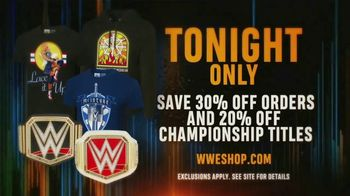 WWE Shop TV Spot, 'Bring It On: 30% Off Orders and 20% Off Championship Titles' - Thumbnail 7