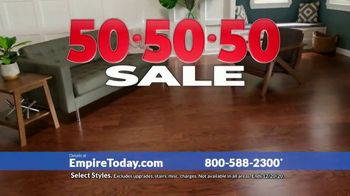 Empire Today 50-50-50 Sale TV Spot, 'Get Big Savings on Beautiful New Floors'