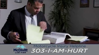 McDivitt Law Firm, P.C. TV Spot, 'Motorcycle Injury Helpline: Back Out There' - Thumbnail 7