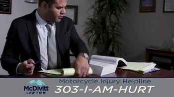 McDivitt Law Firm, P.C. TV Spot, 'Motorcycle Injury Helpline: Back Out There' - Thumbnail 8