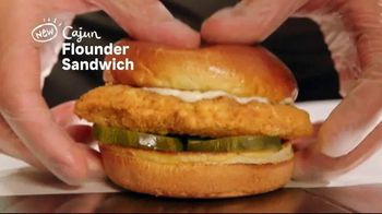 Popeyes Cajun Flounder Sandwich TV Spot, 'What's Not to Love?'