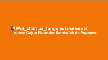 Popeyes Cajun Flounder Sandwich TV Spot, 'Fanático' [Spanish]