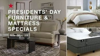Macy's Presidents Day Furniture & Mattress Specials TV Spot, 'Sectional, Queen Bed and Free Base'
