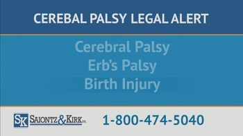 Saiontz & Kirk, P.A. TV Spot, 'Children With Cerebal Palsy' - Thumbnail 7