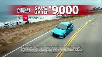 Toyota Washington's Birthday Savings Event TV Spot, 'Prius Prime' [T2] - Thumbnail 2