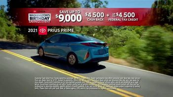 Toyota Washington's Birthday Savings Event TV Spot, 'Prius Prime' [T2] - Thumbnail 3