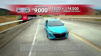 Toyota Washington's Birthday Savings Event TV Spot, 'Prius Prime' [T2] - Thumbnail 4
