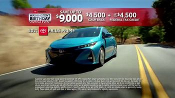 Toyota Washington's Birthday Savings Event TV Spot, 'Prius Prime' [T2] - Thumbnail 5