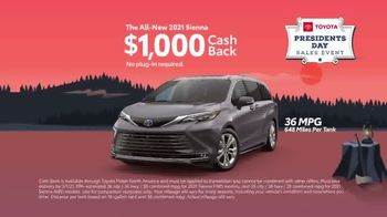 Toyota Presidents Day Sales Event TV Spot, 'Lincoln's Bicycle: Sienna and Venza' [T2] - Thumbnail 4