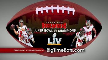 Big Time Bats TV Spot, 'Buccaneers Super Bowl LV Champions Art Football'