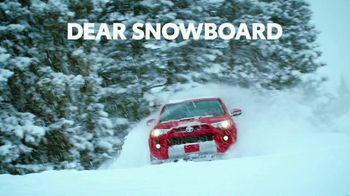 2021 Toyota 4Runner TV Spot, 'Dear Snowboard' [T2] - Thumbnail 1