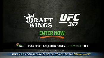 DraftKings Pools TV Spot, 'UFC 257: Tonight's Action: $25,000 Pool' - Thumbnail 4
