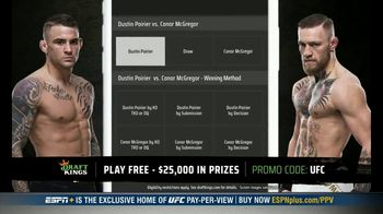 DraftKings Pools TV Spot, 'UFC 257: Tonight's Action: $25,000 Pool' - Thumbnail 5