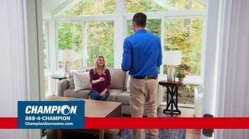 Champion Sunrooms TV Spot, 'Enjoy More Space' - Thumbnail 1