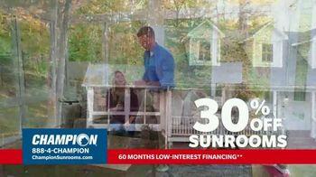 Champion Sunrooms TV Spot, 'Enjoy More Space' - Thumbnail 2