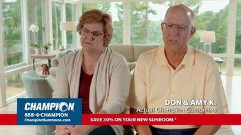 Champion Sunrooms TV Spot, 'Enjoy More Space' - Thumbnail 3